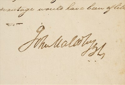 Lot 35 - Malcolm (Sir John). Signed manuscript report on the siege of Asirgarh, 1819, & 2 others