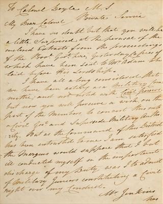 Lot 40 - O'Brien (Lucius). Third Anglo-Maratha War archive, 1818-19