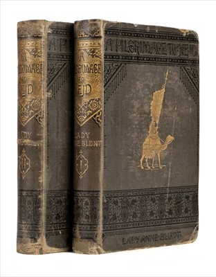 Lot 7 - Blunt (Lady Anne). A Pilgrimage to Nejd, 1st edition, 1881, ex libris Gerald de Gaury