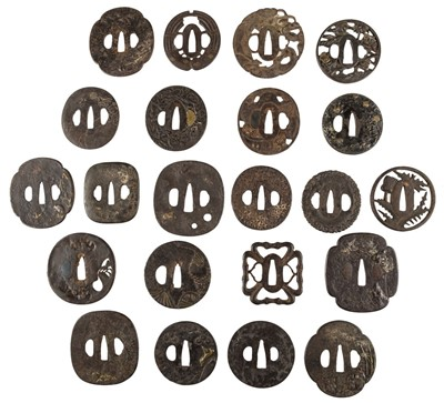 Lot 3-Japanese Tsuba. A good collection of 18th century and later sword guards