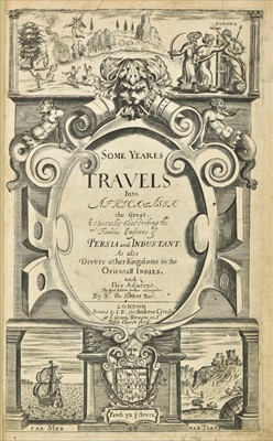 Lot 30-Herbert (Thomas). Some Years Travels into Divers Parts of Africa and Asia the Great, 1665