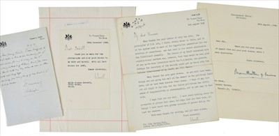 Lot 31 - India. 12 autograph or typed letters signed from various governors-general of India, 20th century