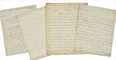 Lot 22 - East India Company & British Army. 10 autograph letters of recommendation & similar, 18-19th century