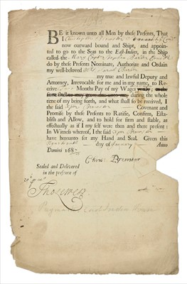 Lot 23 - East India Company. Group of printed and manuscript documents, 17th-19th century