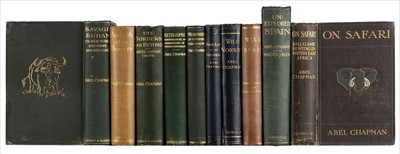 Lot 12 - Chapman (Abel). On Safari, 1st edition, 1908, & 9 other Chapman titles