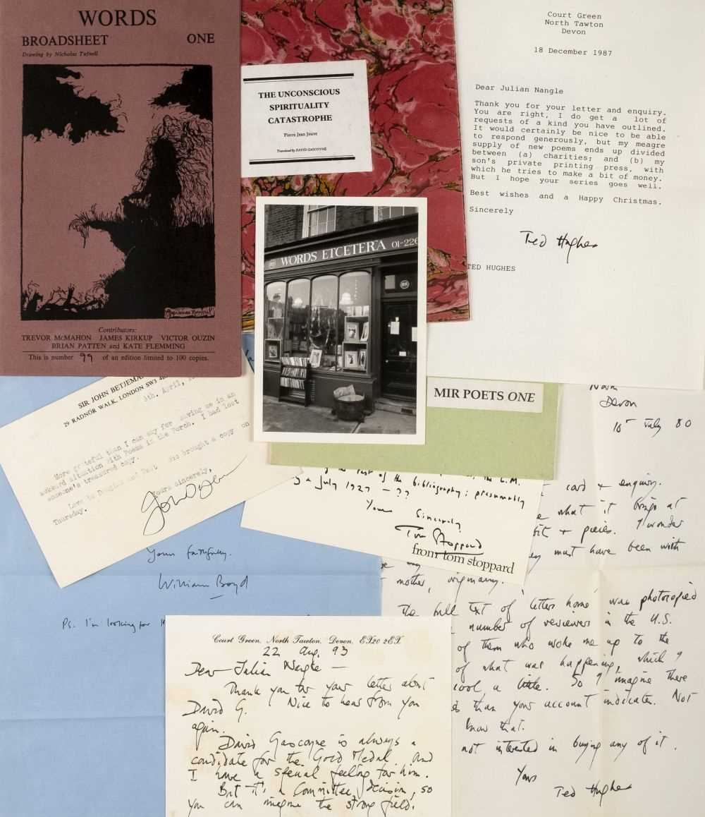 Lot 232-Poetry Publishers' correspondence and archive, circa 1970-2018