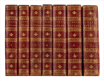 Lot 17-Cook (James). The Voyages of Captain James Cook Round the World, 7 vols., 1809