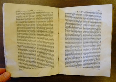 Lot 242-Castelvetro (Giacomo; owner). Lettere devotissime della Caterina da Siena, 1562