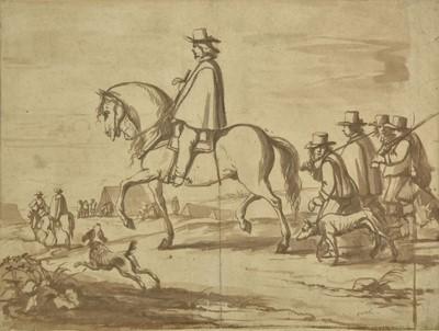 Lot 374-Van der Meulen (Adam Frans, 1632-1690). Soldiers Returning to Camp.