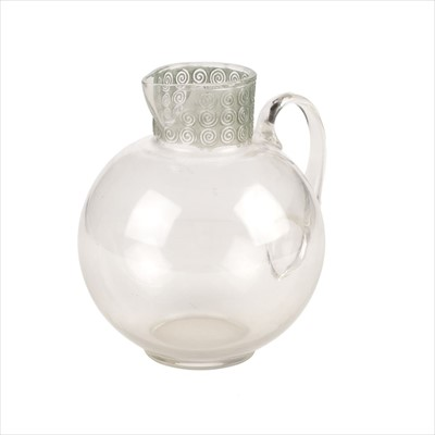 Lot 29-Lalique (Rene, 1860-1945). An early 20th century glass lemonade jug