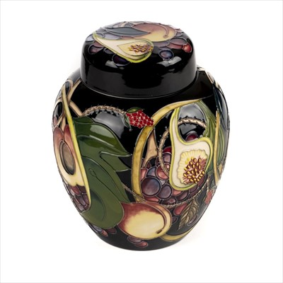 Lot 6-Moorcroft. A Moorcoft pottery 'Queen's Choice' pattern ginger jar
