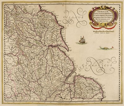 Lot 24-Regional maps of England and Wales. A collection of five maps, 17th - 19th century