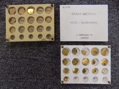 Lot 37-Assay Weights. A collection of assay weights by L Oertling c.1900