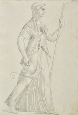 Lot 326 - Minardi (Tommaso, 1787-1871, circle of). A pair of drawings of female figures
