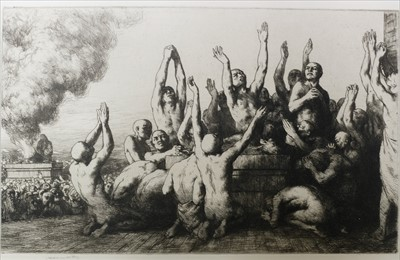 Lot 40-Etchings. A mixed collection of twenty-nine, late 19th & early 20th century