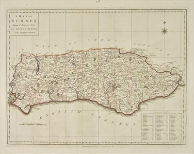 Lot 38-Harrison (John). Maps of the English Counties, 1791