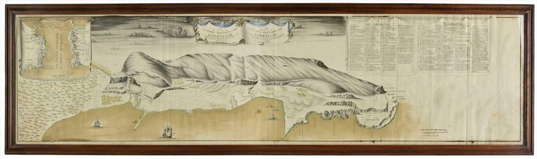 Lot 95-Gibraltar. Kane (Brigadier General Richard), A Plan of the Town, Mountain and Bay of Gibraltar, 1712