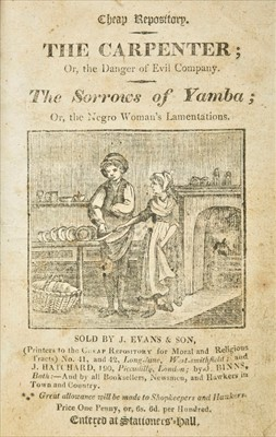 Lot 202 - Cheap Repository Tracts. A bound collection of 20 Cheap Repository Tracts, c.1812-17