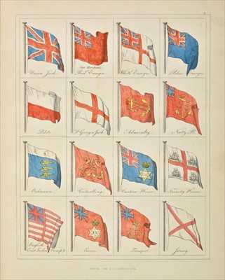 Lot 25-Naval Flags. A Display of Naval Flags of All Nations, 1832