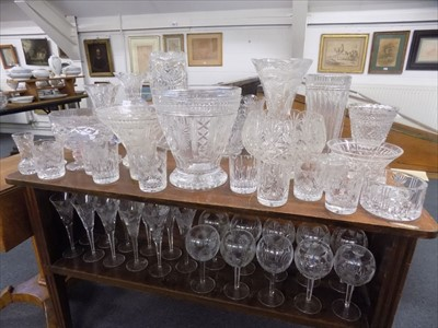 Lot 3-Glassware. A large collection of crystal glassware