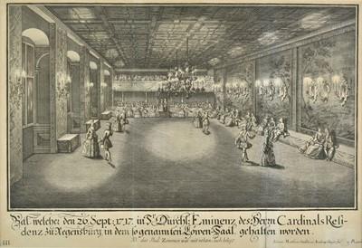 Lot 90 - Steidlin (Johann Matthias, 1717-1754 & Geyer, Andreas, -1729). Bal, 1717-18