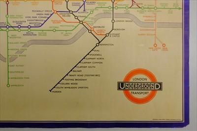 Lot 111-London Underground. Beck (Henry Charles), London Underground Transport map, 1934