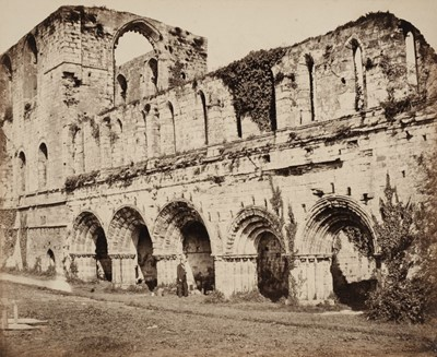 Lot 12-Attributed to Roger Fenton, 1819-1869. A suite of 12 views of Furness Abbey, c. 1860, albumen prints