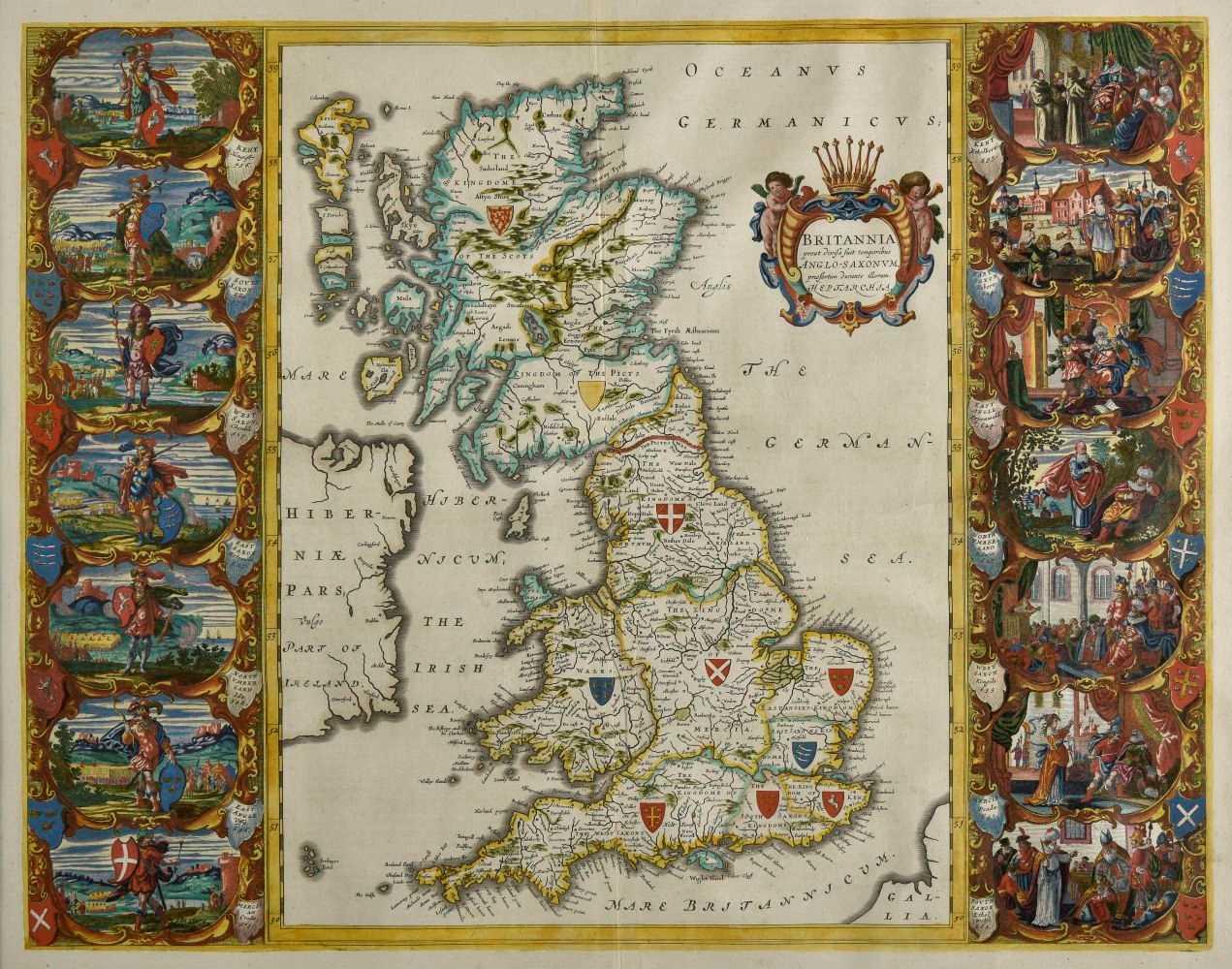 Lot 75-British Isles. Blaeu (Johannes), Britannia ... Anglo-Saxonum ... circa 1646