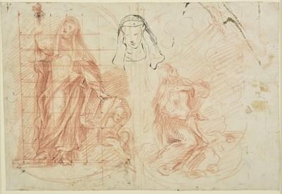 Lot 308 - Baldassare Franceschini, Il Volterrano (1611-1689). St Catherine of Siena