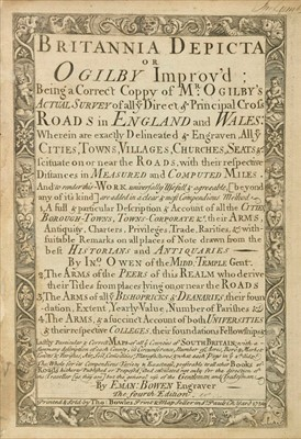 Lot 34-Bowen (Emanuel & Owen John). Britannia Depicta or Ogilby Improv'd..., 1736