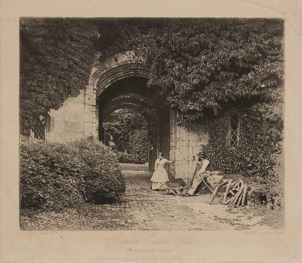 Lot 15-Fenton (Roger, 1819-1869). Raglan Castle - Porch [from] Photographic Art Treasures, October 1856