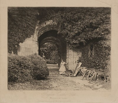 Lot 15-Fenton (Roger, 1819-1869). Raglan Castle - Porch [from] Photographic Art Treasures, October 1856