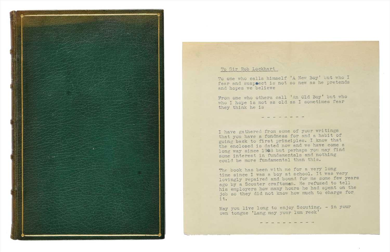Lot 375-Baden-Powell (Robert). Scouting for Boys, 1908, association copy