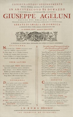 Lot 24-Melkite Greek Catholic Church. Two broadsides, 1795, & others
