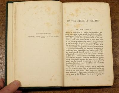 Lot 230-Darwin (Charles). On the Origin of Species, 1st edition, 1859, original cloth