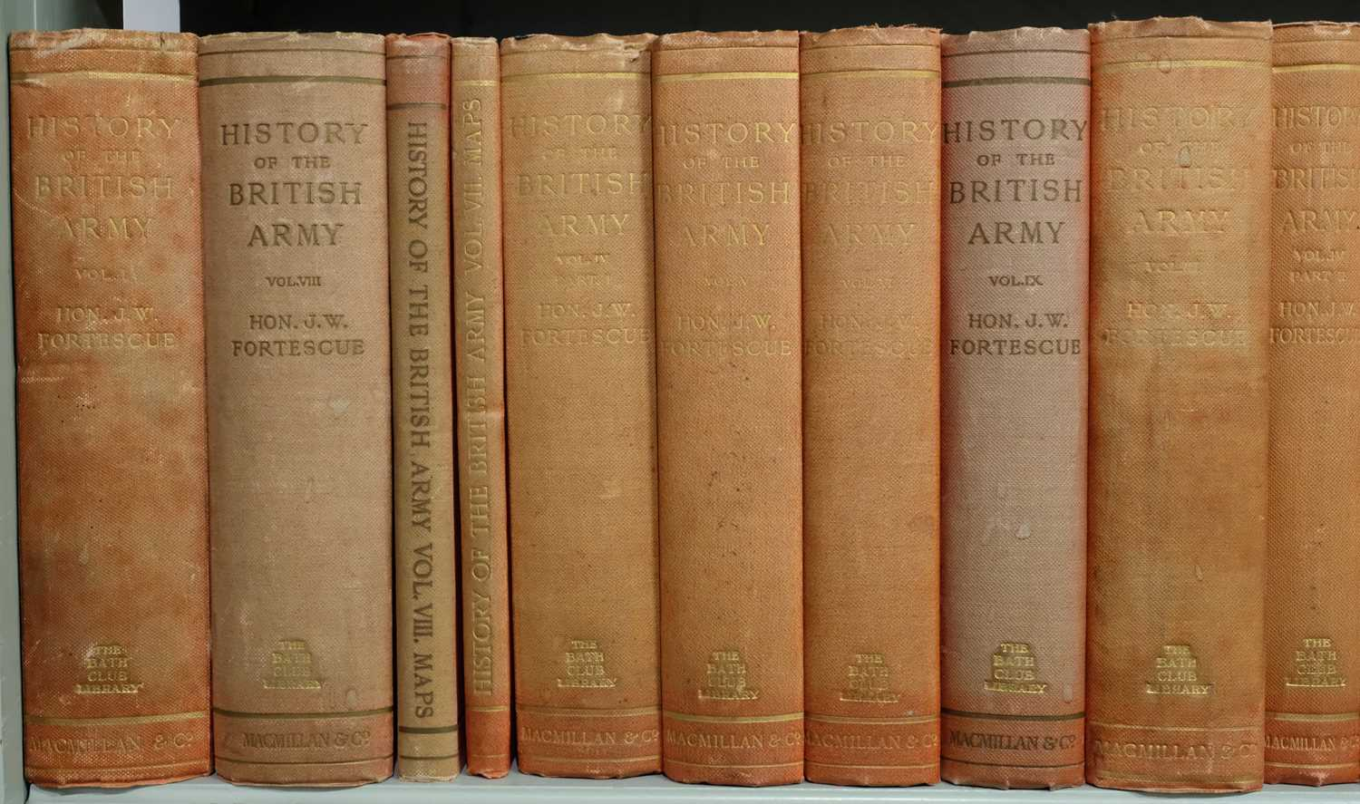 Lot 29 - Fortescue (J.W.). A History of the British Army, 13 vols. in 14, & 6 map vols., 1899-1930