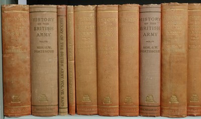 Lot 29-Fortescue (J.W.). A History of the British Army, 13 vols. in 14, & 6 map vols., 1899-1930