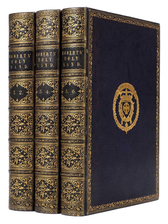 Lot 169 - Roberts (David). The Holy Land, Egypt and Nubia, 1st quarto edition, 1855-6, purple morocco gilt