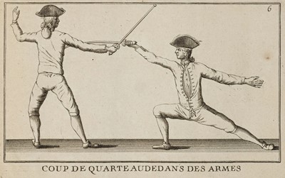 Lot 457 - Le Perche (Jean Baptiste). L'Exercise des armes, facsimile edition, circa 1750