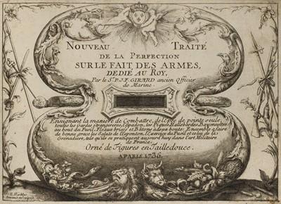 Lot 450 - Girard (Pierre). Traité des Armes, 1st edition, Paris, 1737