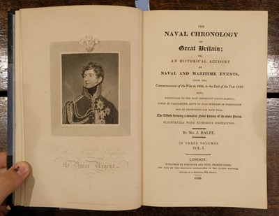 Lot 732 - Ralfe (James). The Naval Chronology of Great Britain, 3 volumes, 1820