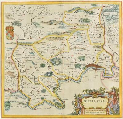 Lot 59 - Middlesex. Blaeu (Johannes), Middle-Sexia, circa 1645