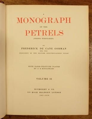 Lot 234 - Godman (Frederick Du Cane). A Monograph of the Petrels, 2 volumes, 1st edition, 1907-10
