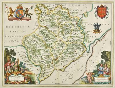 Lot 62 - Monmouthshire. Blaeu (Johannes), Monumethensis comitatus..., circa 1645
