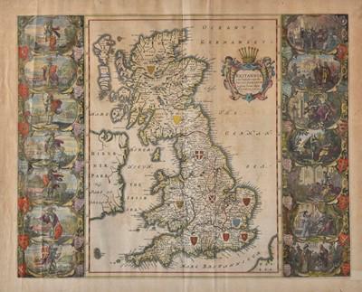 Lot 10 - British Isles. Blaeu (Johannes), Britannia prout divisa suit temporibus Anglo-Saxonum..., circa 1645