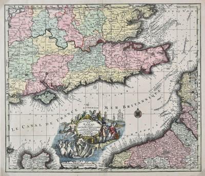Lot 37 - English Channel. Seutter (Matthaus), La plus grande partie de la Manche..., circa 1740