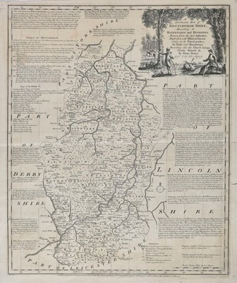 Lot 9 - British Isles. A mixed collection of nineteen country, regional and county maps, 16th - 19th century