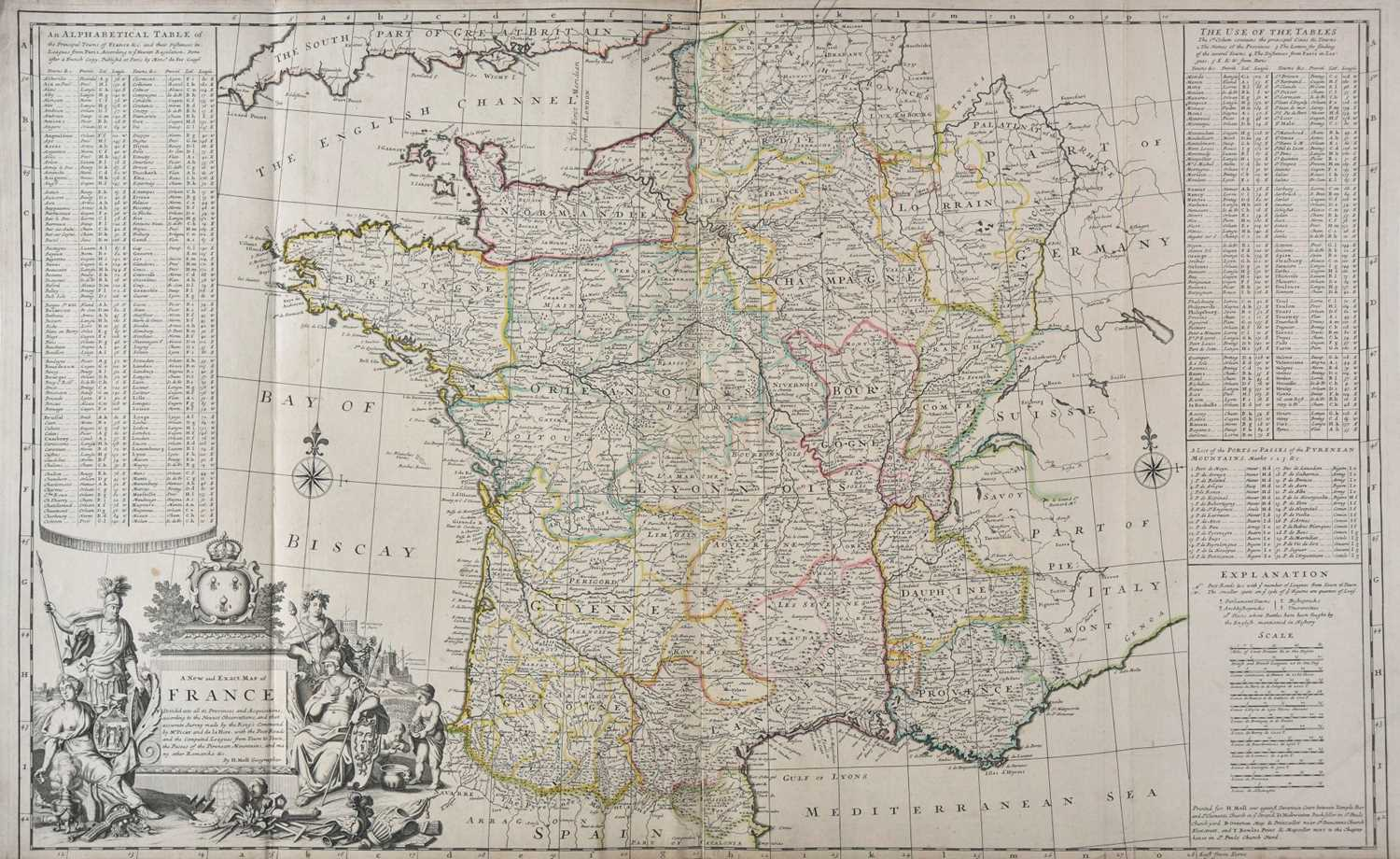 Lot 38 - France. Moll (H), A New and Exact Map of France..., circa 1710