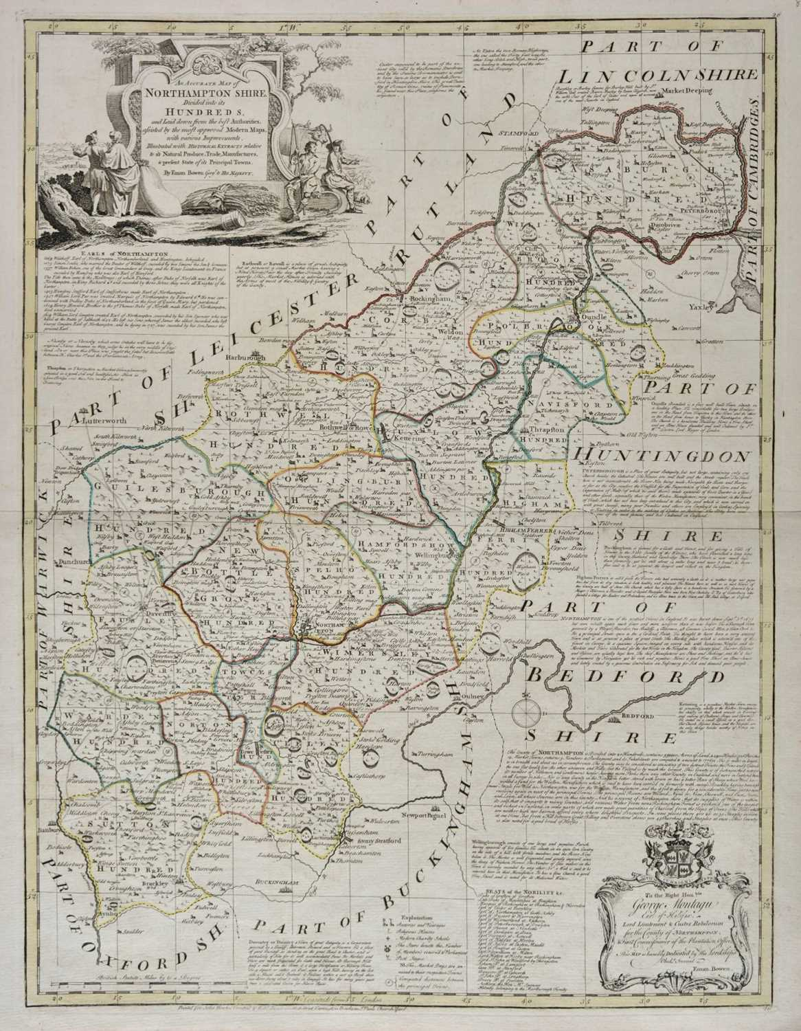 Lot 21-Cary (John). Six county maps, 1801 and later