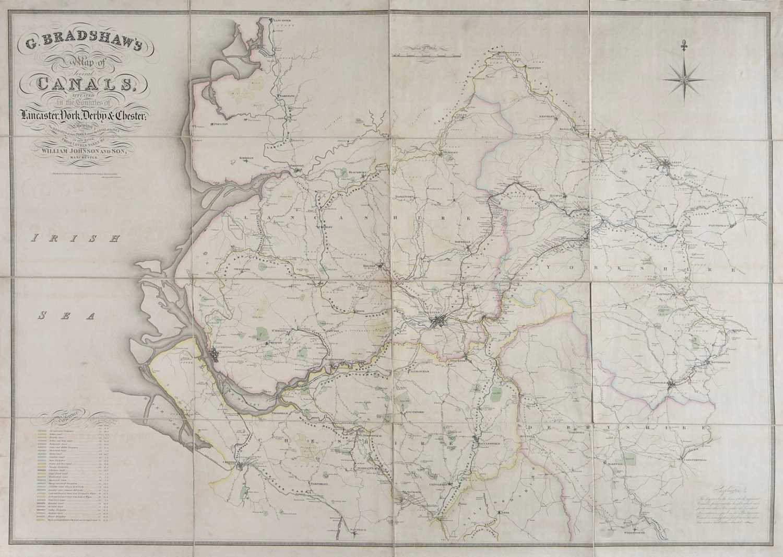 Lot 19-Canal Maps. Bradshaw (G.), Two canal maps, circa 1829